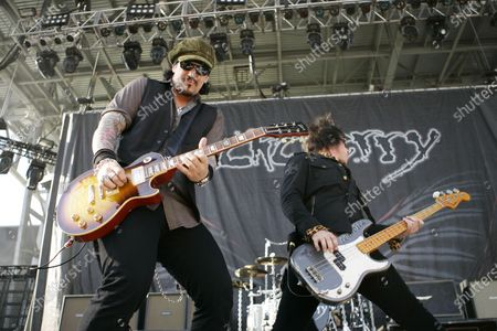 Keith Nelson and Jimmy Ashhurst of Buckcherry perform on day two at the Rock on the Range festival on May 17, 2009 in Columbus, OH.
