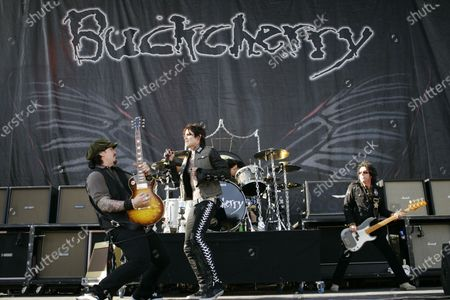 Josh Todd, Keith Nelson, and Jimmy Ashhurst of Buckcherry perform on day two at the Rock on the Range festival on May 17, 2009 in Columbus, OH.