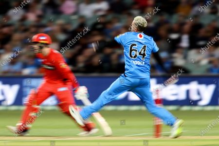 Stock Picture of Peter Siddle of Adelaide Strikers bowls the ball
