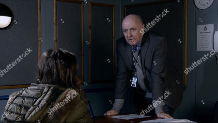 Coronation Street - Ep 10226 Monday 18th January 2021 - 2nd Ep In the police interview room, a terrified Faye Windass, as played by Elle Leach, explains how she attacked Adam Barlow thinking he was Ray Crosby.