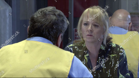 Coronation Street - Ep 10221 Wednesday 13th January 2021 - 1st Ep Jenny Connor, as played by Sally-Ann Matthews, visits Johnny Connor, as played by Richard Hawley, in prison and quizzes him about his fall.