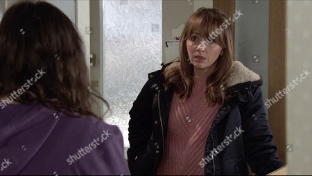 Coronation Street - Ep 10220 Monday 11th January 2021 - 2nd Ep Faye Windass, as played by Elle Leach, confides in Maria Windass, as played by Samia Longchambon, that living with the guilt is making her ill and she'd rather own up to her crime.