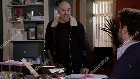 Coronation Street - Ep 10228 Wednesday 20th January 2021 - 2nd Ep A fired up Tim Metcalfe, as played by Joe Duttine, calls into Adam Barlow's, as played by Sam Robertson, office. Adam assures him that he's no wish to see Faye punished and he's told the police that.