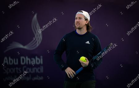 Stock Photo of Tom Hill during practice ahead of the 2021 Abu Dhabi WTA Womens Tennis Open WTA 500 tournament.