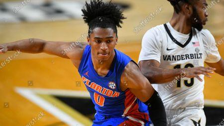 Florida guard Ques Glover plays against Vanderbilt during an NCAA college basketball game, in Nashville, Tenn
