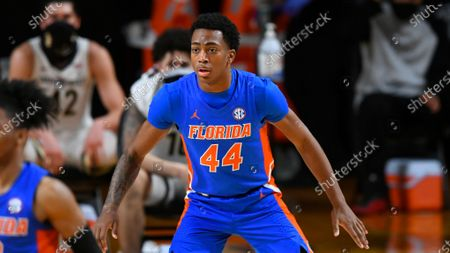 Stock Picture of Florida guard Niels Lane plays against Vanderbilt during an NCAA college basketball game, in Nashville, Tenn