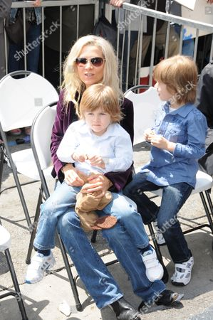 Danielle Spencer and sons Tennyson and Charlie