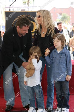 Editorial photo of Russell Crowe Walk of Fame Star Ceremony, Hollywood, California, America - 12 Apr 2010