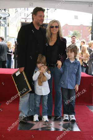 Editorial image of Russell Crowe Walk of Fame Star Ceremony, Hollywood, California, America - 12 Apr 2010
