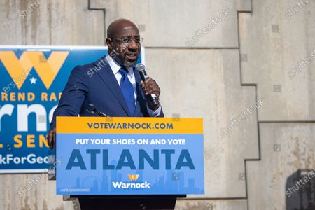 Editorial photo of Rev Warnock labor launch and press conference, Atlanta, Georgia, USA - 05 Jan 2021
