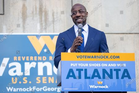 Editorial image of Rev Warnock labor launch and press conference, Atlanta, Georgia, USA - 05 Jan 2021