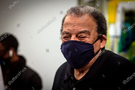 Andrew Young, former U.S. Ambassador to the United Nations watches after he received his COVID-19 vaccination, at the Morehouse School of Medicine in Atlanta. Young, baseball great Hank Aaron and others received their vaccinations in an effort to highlight the importance of getting vaccinated for Black Americans who might be hesitant to do so