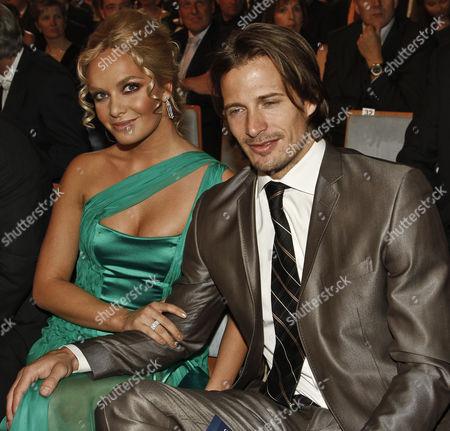 Former Miss World Tatiana Kucharova and with boyfriend American model Lane Carlson.