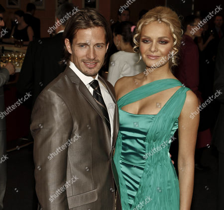 Former Miss World Tatana Kucharova and with boyfriend American model Lane Carlson.
