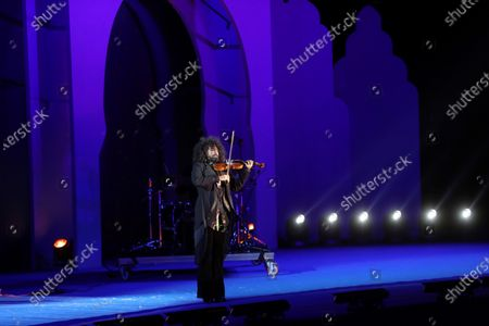 Lebanese violinist Ara Malikian performs during the arrival of the Three Wise Men, or Three Kings, to Madrid, Spain, 05 January 2021. Spain stretches out Christmas celebrations until 06 January as children wait for the Three Wise Men to leave them presents during the night of 05 to 06 January as part of Epiphany celebrations.