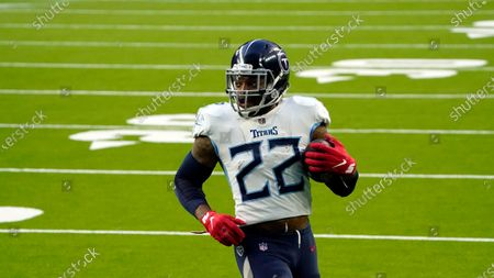 Tennessee Titans running back Derrick Henry (22) rushes for a touchdown against the Houston Texans during the second half of an NFL football game, in Houston