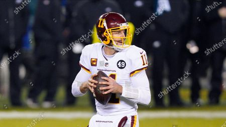 Stock Picture of Washington Football Team's Alex Smith plays during an NFL football game against the Philadelphia Eagles, in Philadelphia
