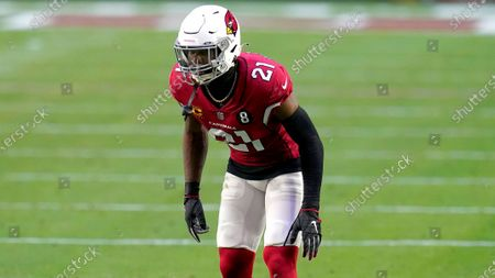 Stock Image of Arizona Cardinals cornerback Patrick Peterson (21) during the first half of an NFL football game, in Glendale, Ariz