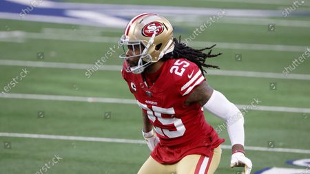 San Francisco 49ers cornerback Richard Sherman (25) defends during an NFL football game in Arlington, Texas