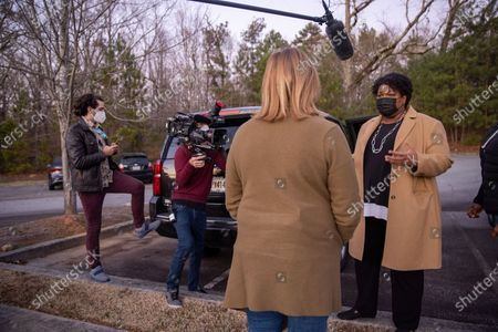 Editorial picture of Stacey Abrams election day interview, Atlanta, Georgia, USA - 05 Jan 2021