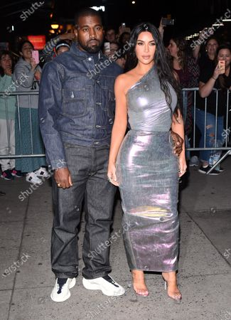 Stock Picture of Kim Kardashian and Kanye West