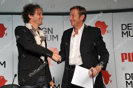 (L-R) Yves Behar (Designer) and Jochen Zeitz (Chairman and CEO, PUMA AG)