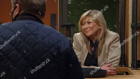 Emmerdale - Ep 8942 Thursday 14th January 2021 - 1st Ep It's Lucas' birthday but Harriet Finch is seething to notice the flirtation between Kim Tate, as played by Claire King, and Will Taylor, as played by Dean Andrews.