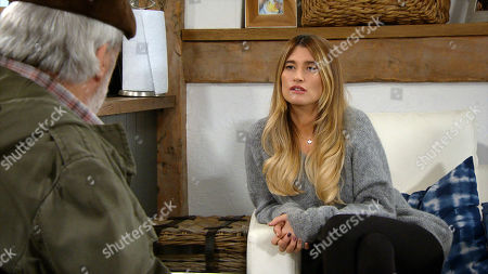 Emmerdale - Ep 8945 Monday 18th January 2021 Debbie Dingle, as played by Charley Webb, tells Charity Dingle that she wants her to move back in with Chas at the pub. Having heard about the conflict, Zak Dingle, as played by Steve Halliwell, arrives demanding answers from Charity.