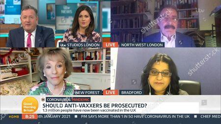 Piers Morgan, Susanna Reid, Prof Robert Winston, Dame Esther Rantzen and Noreen Khan