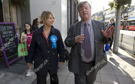 Kenneth Clarke, Shadow Secretary of State for Business with candidate Angie Bray.