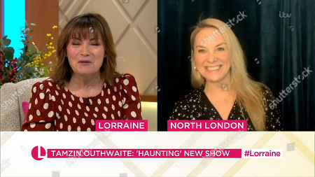 Stock Image of Lorraine Kelly and Tamzin Outhwaite