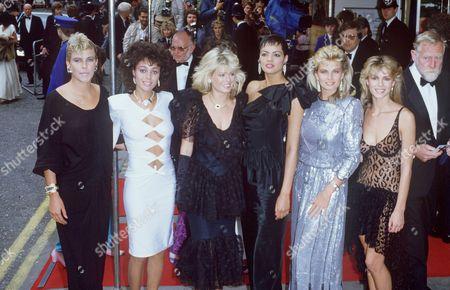 JAMES BOND GIRLS AT 'VIEW TO A KILL' PREMIERE LONDON BRITAIN 1985