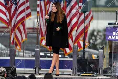 """Kimberly Guilfoyle speaks, in Washington, at a rally in support of President Donald Trump called the """"Save America Rally"""