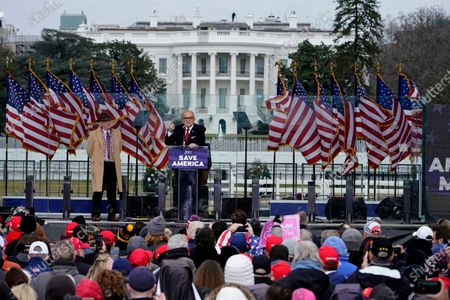 """Former New York City Mayor Rudy Giuliani speaks, in Washington, at a rally in support of President Donald Trump called the """"Save America Rally"""