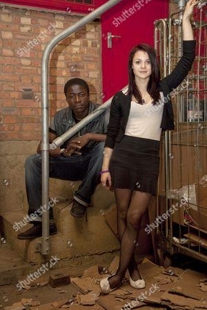 Merveille Lukeba and Kathryn Prescott from Skins