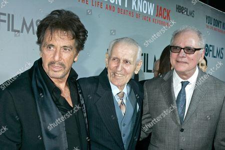 Al Pacino, Dr Jack Kevorkian and Barry Levinson, Director
