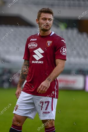 Karol Linetty of Torino FC during the Serie A football match between Torino FC and Hellas Verona FC at Stadio Olimpico Grande Torino on January 6, 2021 in Turin, Italy. Sporting stadiums around Italy remain under strict restrictions due to the Coronavirus Pandemic as Government social distancing laws prohibit fans inside venues resulting in games being played behind closed doors