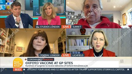 Ben Shephard, Kate Garraway, Lionel Blair, Dr Miriam Stoppard and Prof Helen Stokes-Lampard
