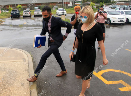 Zara Holland and one of her legal team at the District D Magistrates Court in Barbados. British Reality TV Star Zara Holland was this morning fined $12000.00 Barbados ( $6000.00 USD ) for breaching Barbados Corona Virus quarantine laws when she appeared in the District D magistrate court