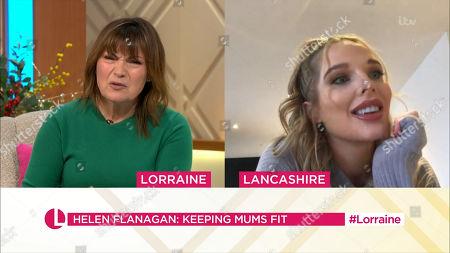Lorraine Kelly and Helen Flanagan
