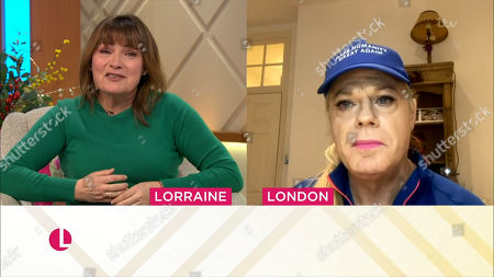 Lorraine Kelly and Eddie Izzard