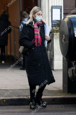 Stock Picture of Exclusive - Nicole Appleton and her boyfriend visit a bank and while they were inside they got a parking ticket.