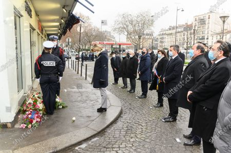 Editorial photo of Commemorative ceremony in front of the hypercasher, Paris, France - 07 Jan 2021