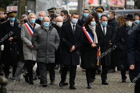 Stock Image of French Interior Minister Gerald Darmanin, Anne Hidalgo. an Joel Mergui