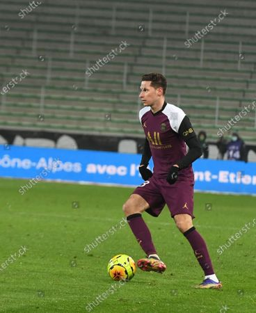 Julian Draxler during the French L1 football match between Saint-Etienne (ASSE) and Paris (PSG) on January 06, 2021, at the Geoffroy Guichard Stadium in Saint-Etienne.