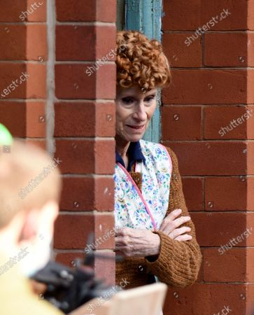 Stock Picture of 59 years after filming A Taste of Honey Rita Tushingham returns to film on the terraced streets of Manchester in the 1960's BBC period drama Ridley Road.
