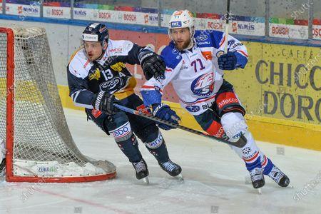 #13 Marco Mueller (Ambri) against #71 Fredrik Pettersson (ZSC)