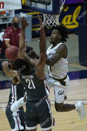 Editorial photo of Washington St California Basketball, Berkeley, United States - 07 Jan 2021