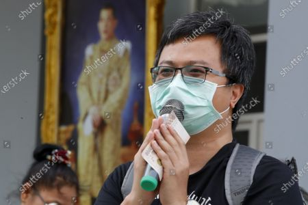 Editorial image of Pro-democracy protest leader Anon Nampa and Panupong 'Mike' Jadnok hear charges for organizing anti-government  rallies during the emergency decree in 2020, Bangkok, Thailand - 08 Jan 2021