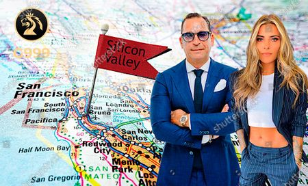 In this image released, Josip Heit, CEO of GSB Gold Standard Banking Corporation AG, left and G999 ambassador Sophia Thomalla. Sophia Thomalla and Josip Heit plan a sequel to the recent G999 spot, this time in Silicon Valley. Press release and media available to download from www.apmultimedianewsroom.com. ** HANDOUT IMAGE ** Free to use. Please see Special Instructions field